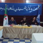 Le chef de sûreté de la wilaya de  Sidi Bel Abbes a fait Lecture du bilan de l'activité 2014.
