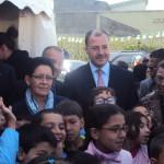 Visite d'inspection et de travail de madame Dalila Boudjemaa ministre du territoire de l'environnement à Sidi Bel Abbes.