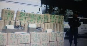 La stratégie des narcotrafiquants transportant 1029kg de kif a échoué  juste à l'entrée de  la localité Mostefa Ben Brahim.