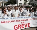 Les médecins  résidents du C.H.U. Hassani Abdelkader s'organisent à un SIT-IN