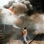 La locomotive du train voyageurs reliant Oran –Bechar prise par le feu.