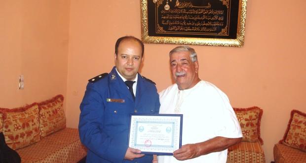 Le comédien Hazim Mohamed honoré par la sureté de wilaya de Sidi Bel Abbes