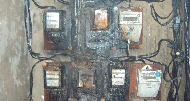Un feu a été  déclaré au  bloc M2 des 1500 logements suite à une défaillance provoquée à la niche des compteurs d'électricité