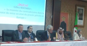 Sidi Bel Abbés Organise  un Colloque international  sur les libertés et les droits de l'homme.