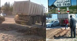 A sidi Bel Abbes. Le désastre des travaux de traversées de routes justifient les accidents de circulation