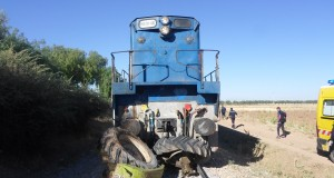 Le train en provenance de Tlemcen percute un tracteur et tue.