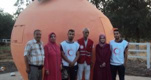 Le  C.R.A. «  croissant Rouge Algérien » de Sidi Bel Abbés à pied d'œuvre.