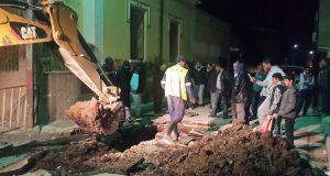 Un affaissement  provoqué sur  La rue Kandi Belabbès (Jean Macé)  Fg Thiers !