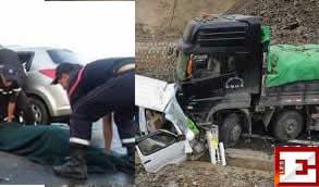 Accident mortel sur la R.N 95 reliant Sidi Bel Abbés à Sidi Ali Benyoub.