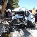 Accident  spectaculaire de circulation  à la  « rocade Est ». De Sidi Bel Abbés.
