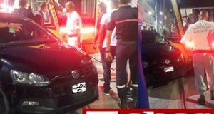 Accident spectaculaire au centre ville de Sidi Bel Abbés, collision entre le tram et un véhicule léger.