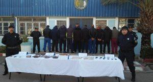 Démantèlement d'un réseau dangereux de narcotrafiquants, saisie de 3kg de Kif traité. à Sidi-Bel-Abbes