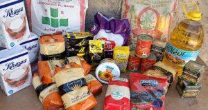 4200 couffins, prêts à être distribués aux bénéficiaires, par les services de l' A.P.C