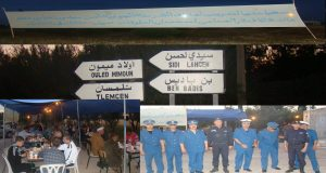 La sureté de wilaya de Sidi Bel Abbes Organise Maidate Ramadane.sous le slogan أفطر معنا وسر في أمان