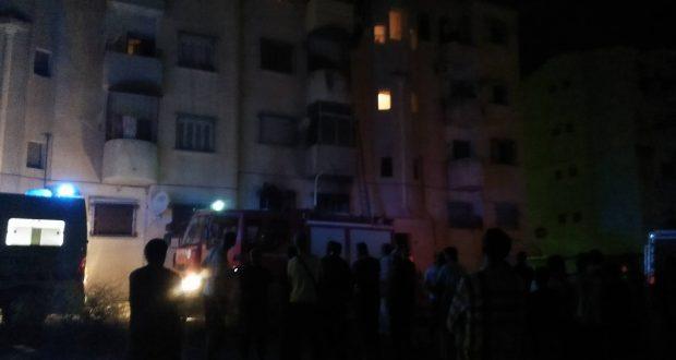 Sidi Bel Abbes : Un incendie s'est déclaré au 1er étage d'un bâtiment à Sidi Djilali.