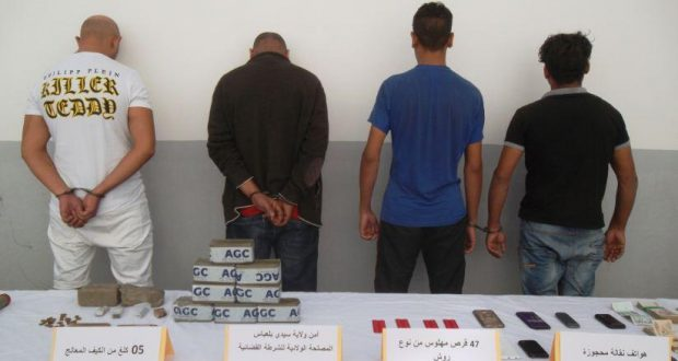Arrestation de  4  narcotrafiquants  par la police  de  Sidi Bel Abbes
